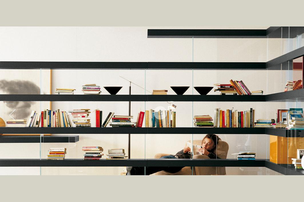 Bibliotheque avec separation air lago italia