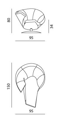 Fauteuil Parabolica leolux