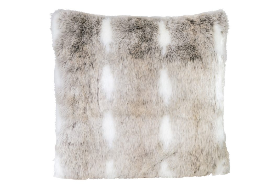 snow rabbit full fur coussin winter home